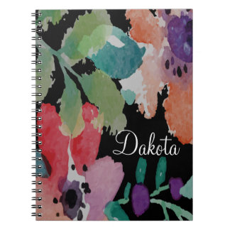 Beautiful Hand Painted Flowers   Note Book