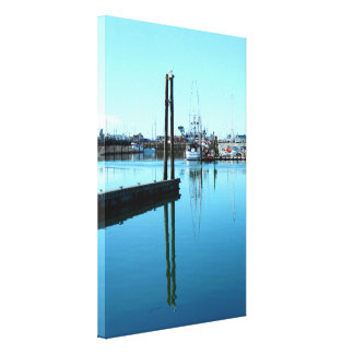 Beautiful Harbor Stretched Canvas Print