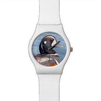 Beautiful Harlequin Duck on the Rock Wrist Watch