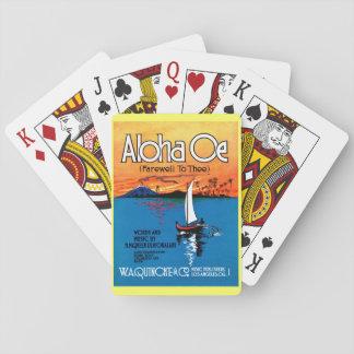 Beautiful Hawaii: ALOHA OE Farewell to Thee Playing Cards