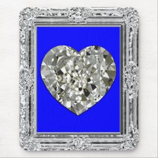 Beautiful Heart Of Diamonds Mouse Pad