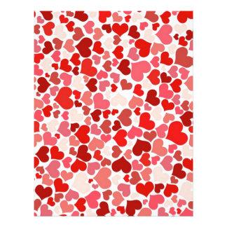 beautiful hearts pattern letterhead design