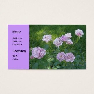 Beautiful Hedge Roses Business Cards