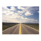 Beautiful highway scenery postcard