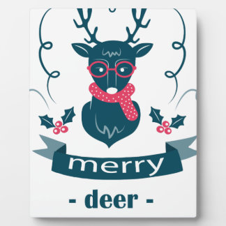 beautiful hipster christmas plaque