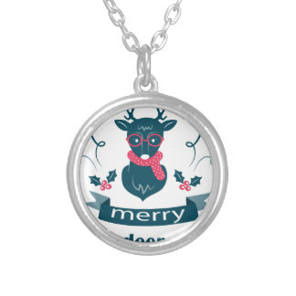 beautiful hipster christmas silver plated necklace