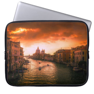 Beautiful historic venice canal, italy laptop sleeve