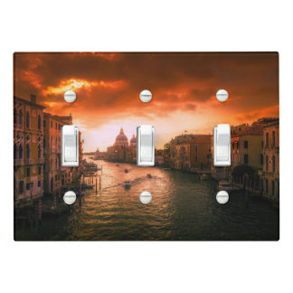 Beautiful historic venice canal, italy light switch cover
