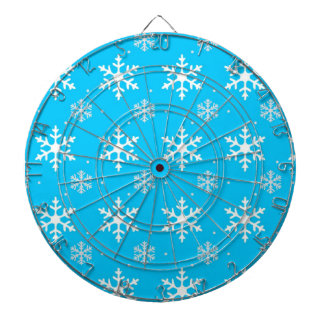 Beautiful Holiday Snowflake Pattern Dart Boards