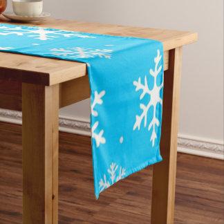 Beautiful Holiday Snowflake Pattern Short Table Runner
