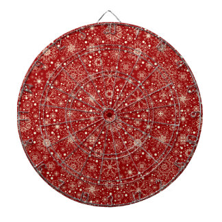 Beautiful Holiday Sparkle Snowflake Pattern Dartboards