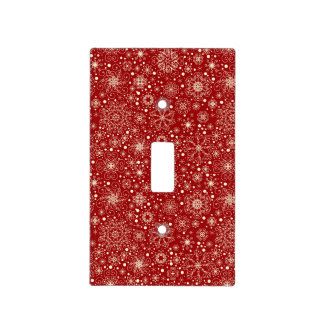 Beautiful Holiday Sparkle Snowflake Pattern Light Switch Cover