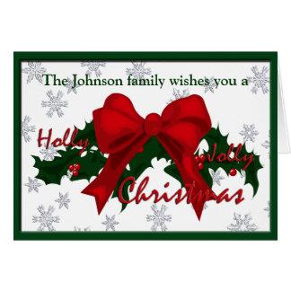 Beautiful Holly Jolly Christmas Custom GC Card