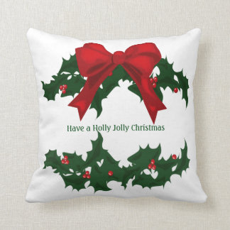 Beautiful Holly Jolly Christmas Pillow