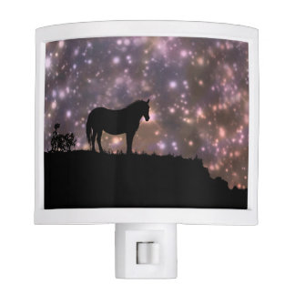 Beautiful Horse and Stars Night Light