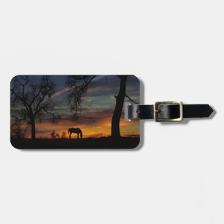Beautiful Horse and Sunset Luggage Tag