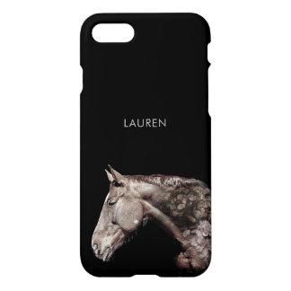 Beautiful Horse Flower Petals Double Exposure iPhone 8/7 Case