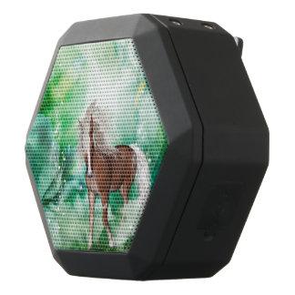 Beautiful horse in wonderland black bluetooth speaker