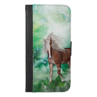 Beautiful horse in wonderland iPhone 6/6s plus wallet case