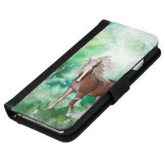 Beautiful horse in wonderland iPhone 6 wallet case
