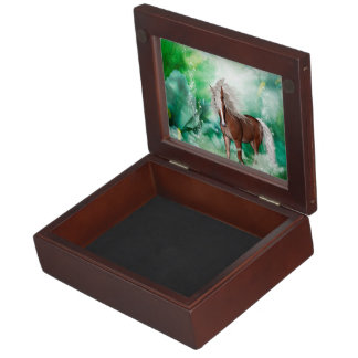 Beautiful horse in wonderland keepsake box