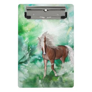 Beautiful horse in wonderland mini clipboard