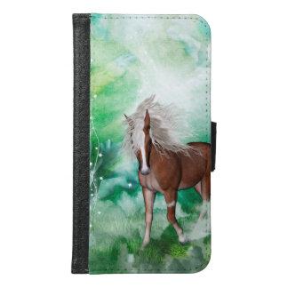 Beautiful horse in wonderland samsung galaxy s6 wallet case