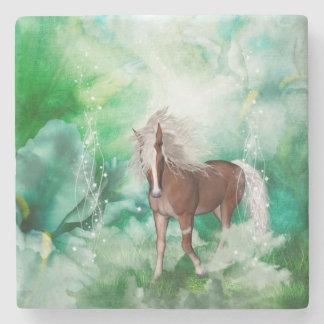 Beautiful horse in wonderland stone coaster