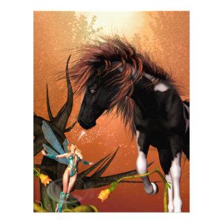 Beautiful horse custom letterhead