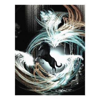 Beautiful horse letterhead design