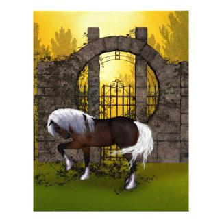 Beautiful horse customized letterhead