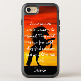 """Beautiful Horse Rearing """"Some Women"""" Quote OtterBox Symmetry iPhone 7 Case"""