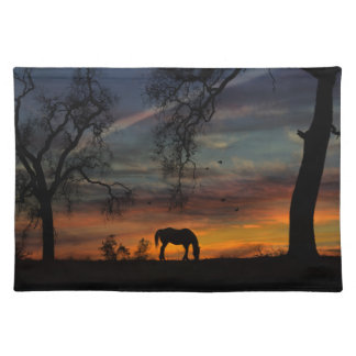 Beautiful Horse Southwestern Table Settings Placemat