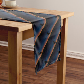 BEAUTIFUL HORSE STALLION SHORT TABLE RUNNER