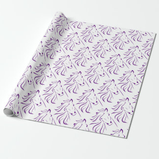 Beautiful Horse with Glamorous Mane Wrapping Paper