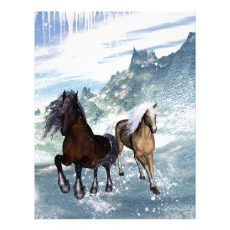 Beautiful horses letterhead template
