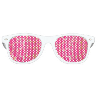 Beautiful,hot pink,faux gold,leaf,pattern,trendy,m party shades