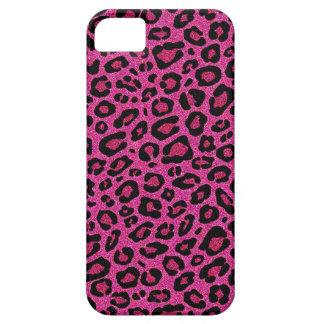 Beautiful hot pink leopard skin glitter shine iPhone 5 cases