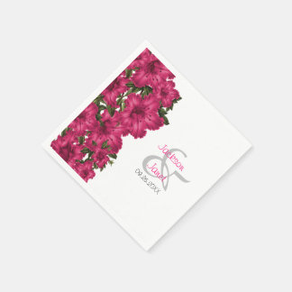Beautiful Hot Pink Lilies Disposable Napkins
