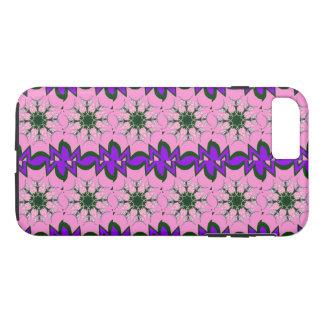 Beautiful hot pink +purple shade motif monogram iPhone 8 plus/7 plus case