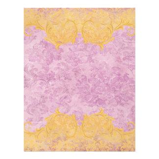 beautiful,hot pink,vintage,floral,pattern,victoria custom letterhead