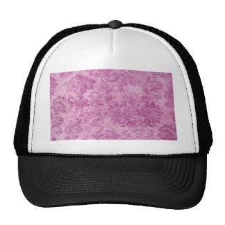 beautiful,hot pink,vintage,floral,pattern,victoria trucker hat