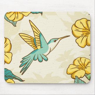 Beautiful Humming bird as texture Mouse Pad