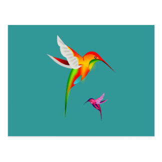 Beautiful Hummingbirds (Colibri) Postcard