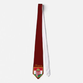 Beautiful Hungary Flag - Coat Arm Tie
