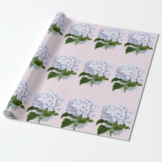 Beautiful Hydrangea Flower in Violet Wrapping Paper