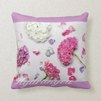 Beautiful hydrangea throw pillow