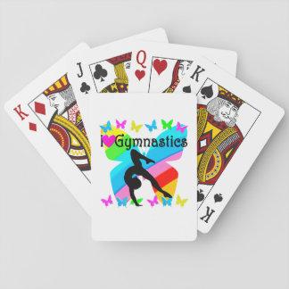 BEAUTIFUL I LOVE GYMNASTICS DESIGN PLAYING CARDS