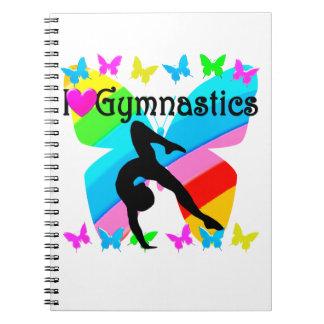 BEAUTIFUL I LOVE GYMNASTICS DESIGN SPIRAL NOTEBOOK