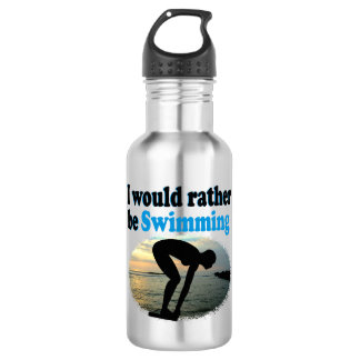 BEAUTIFUL I WOULD RATHER BE SWIMMING GIRL DESIGN